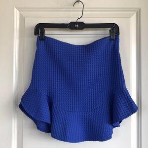 Zara Skirts - Zara blue mini skirt
